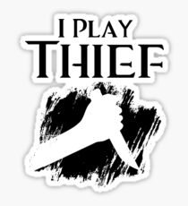 I Play Thief Sticker