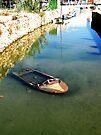 sad sunken boat by H J Field