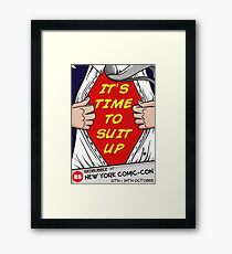 REDBUBBLE NYCC POSTER Framed Print