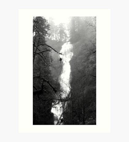 Eerie Munson Creek Falls Art Print