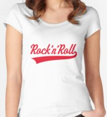 Rock 'n' Roll (Red) Women's Fitted Scoop T-Shirt