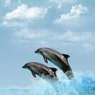 Leaping Dolphins Case by tapiona