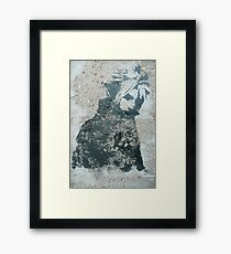 STENCIL: Cloud Strife - Final Fantasy VII Framed Print