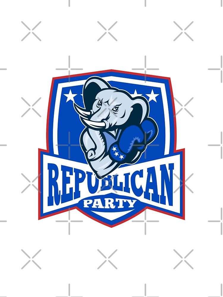 Republican Elephant Mascot Boxer Shield by patrimonio