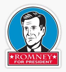 Mitt Romney For American President Sticker
