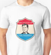 Mitt Romney For American President Shield T-Shirt