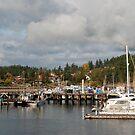 Friday Harbor in Fall by Deborah Singer