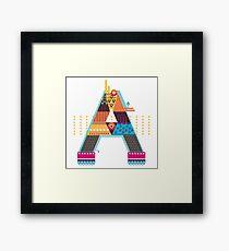 A as ... A Framed Print