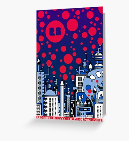 REDBUBBLE CITY! Greeting Card