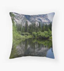 El Capitan and Mirror Lake Throw Pillow