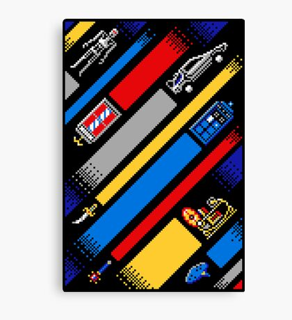 TIME LINES Canvas Print