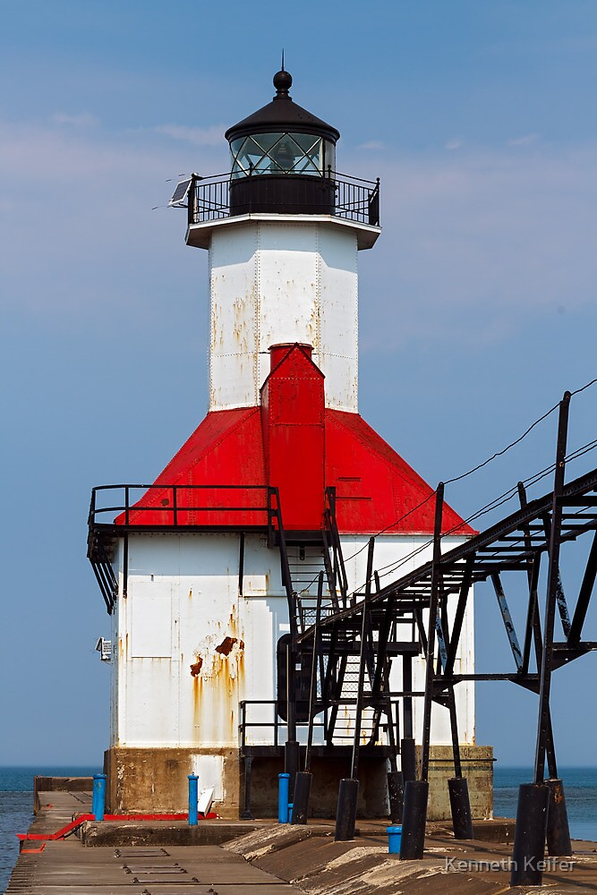 St. Joseph Lighthouse, Lake Michigan by Kenneth Keifer