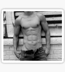 male abs  Sticker