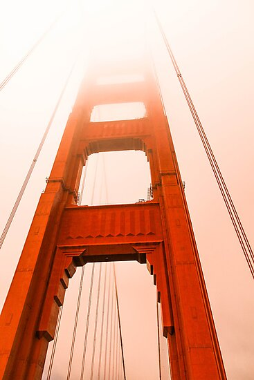 Golden gate  Bridge in the fog by Mark Bilham