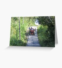 Tractor. Greeting Card