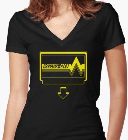 KACHO ON! Women's Fitted V-Neck T-Shirt