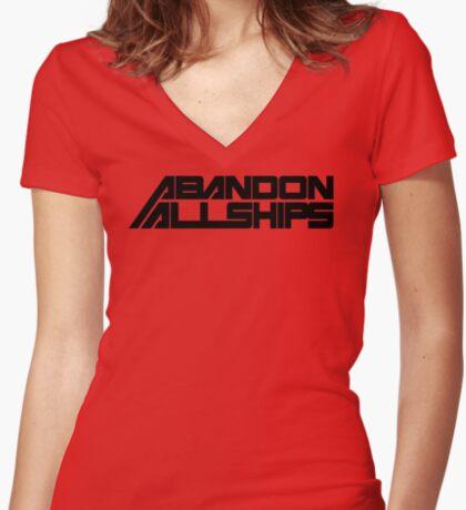 Abandon All Ships Women's Fitted V-Neck T-Shirt