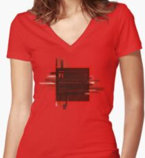 Adobe Flash Splash Screen Women's Fitted V-Neck T-Shirt