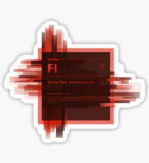 Adobe Flash Splash Screen Sticker