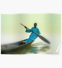 Returning from all night fisihing. River Niger-Nigeria. Poster