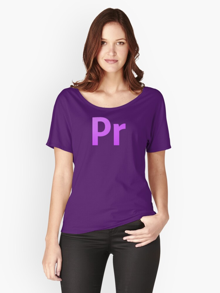 Adobe Premier  Women's Relaxed Fit T-Shirt Front