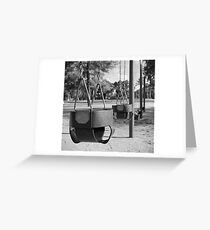 Swing Baskets Greeting Card