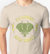 Hellephant - Maulive Green on Creme T-Shirt