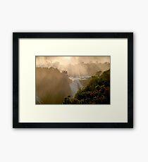 sunset at Iguassu Falls Framed Print