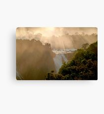 sunset at Iguassu Falls Canvas Print