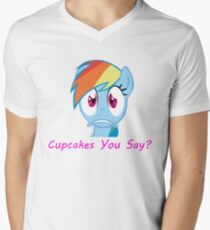 Rainbow Dash, Cupcakes You say? Men's V-Neck T-Shirt