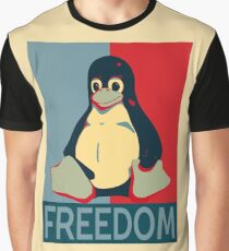 Tux Freedom for Linux Users Graphic T-Shirt
