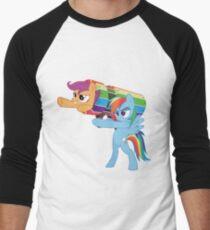 Rainbow Cannon Men's Baseball ¾ T-Shirt