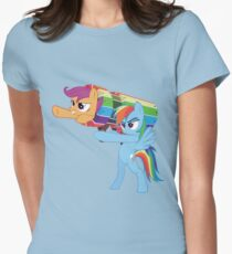Rainbow Cannon Womens Fitted T-Shirt