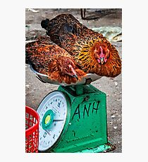 Chicken scales Photographic Print
