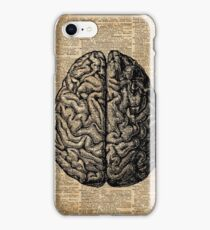 Vintage Human Anatomy Brain Illustration Dictionary Book Page Art iPhone Case/Skin