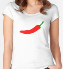 Chilli Pepper Women's Fitted Scoop T-Shirt