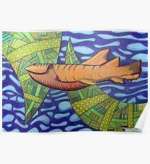 363 - SHARK DESIGN - DAVE EDWARDS - COLOURED PENCILS - 2012 Poster