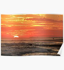 Sunset at Point Lonsdale Poster