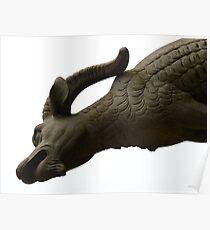 Gargoyle Mythical Creatures Ulm Münster Poster