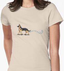 German Shepherd Places to Go Womens Fitted T-Shirt