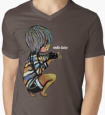 Smile Daisy Photographer Men's V-Neck T-Shirt