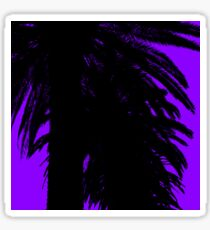 Palm Trees Silhouette - Purple Sunset Sticker