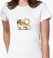 Pekingese Hairy Wake Womens Fitted T-Shirt