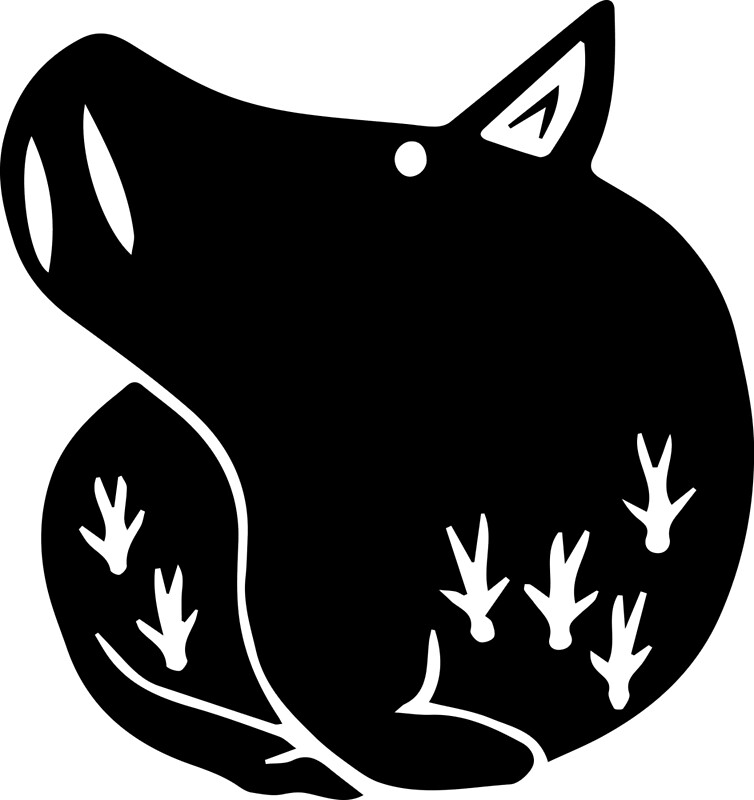 The Seven Deadly Sins Pig: The Boar Sin Of Gluttony (Black