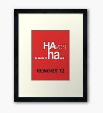 HA ha Framed Print