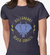 Hellephant - Impale Blue on Dark Blue T-Shirt