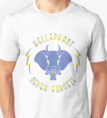 Hellephant - Impale Blue on Light Yellow T-Shirt