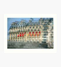 Parisian Mosaic - Piece 29 - French Building Facade  Art Print