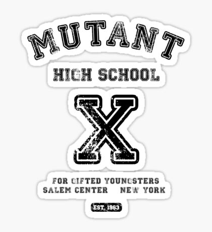 Mutant High School (Light Colours Version) Sticker