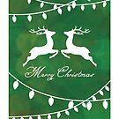 Merry Christmas Deer by OpenArtStudio